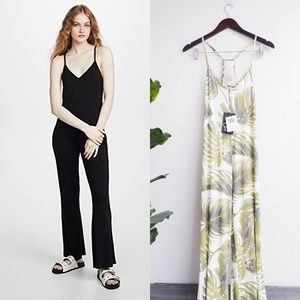 NWT CHASER JERSEY COOL RACERBACK PALM JUMPSUIT
